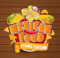 nourriture mexicaine vecteur