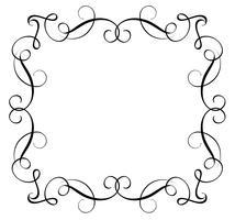 Cadre décoratif et bordures Art. Calligraphie lettrage Illustration vectorielle EPS10 vecteur