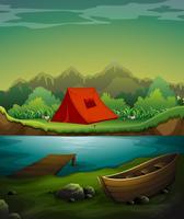 Terrain de camping vecteur