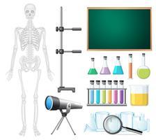 Un ensemble d'éléments de classe de sciences vecteur