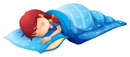 Un enfant endormi vecteur