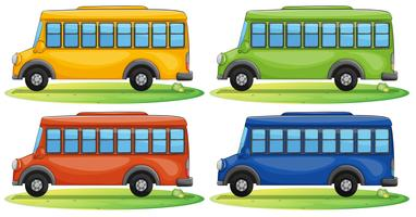 Autobus scolaires vecteur