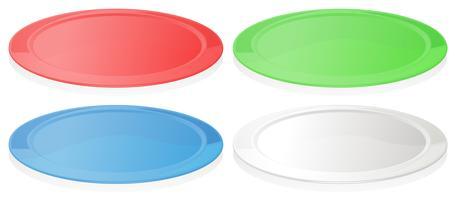 Assiettes colorées vecteur