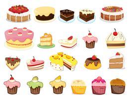 Collection de gâteaux vecteur