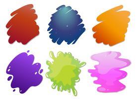 Lignes de vagues colorées vecteur