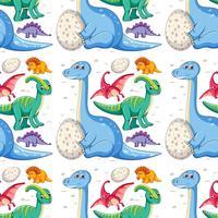 Un modèle sans couture de dinosaure vecteur
