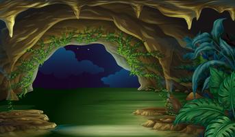 la grotte vecteur