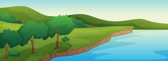 Une rivière vecteur