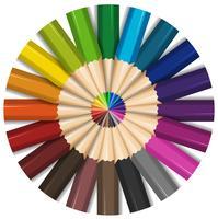 Crayons de couleur avec des pointes