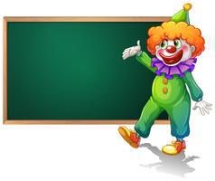 Planche et clown vecteur