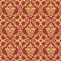 Motif damassé sans soudure. Texture or et rouge