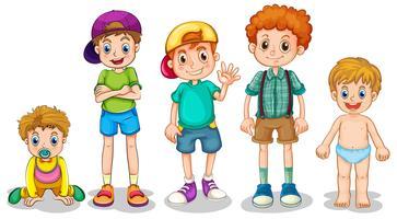 Jeunes garçons vecteur