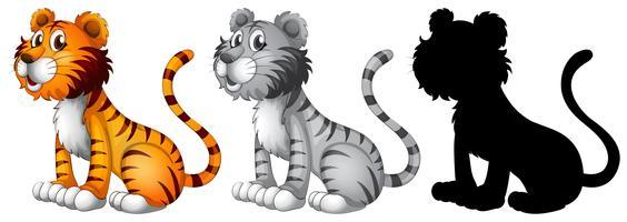Ensemble de personnage de tigre