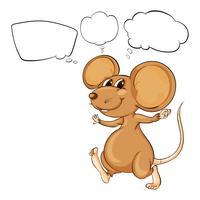 La puissante souris brune vecteur