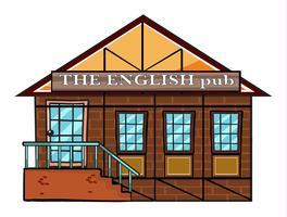 Le pub anglais vecteur
