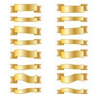 Ensemble de rubans de bannières d'éléments de conception. vecteur