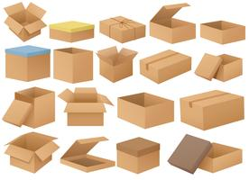 Boîtes en carton vecteur