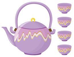 service à thé vecteur