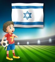 Modèle de joueur de football d'Israël vecteur