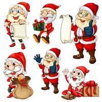 Ensemble de Père Noël vecteur