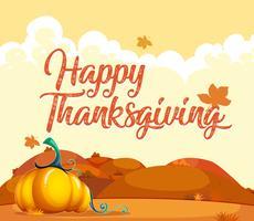 Carte de citrouille Happy Thanksgiving