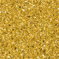 Texture transparente de paillettes d'or jaune faite avec de petites étoiles. vecteur