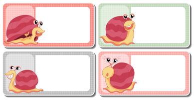 Création d'étiquettes avec des escargots