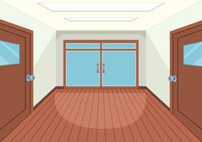 Un intérieur de salle vide