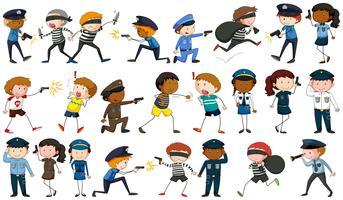 Policier et personnages criminels