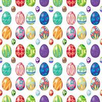 Design sans couture avec des oeufs de Pâques