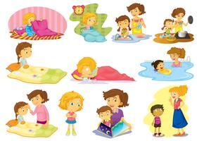 Enfants et activités vecteur
