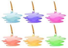Six options de peinture vecteur
