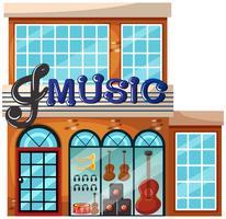 Extérieur du grand magasin de musique vecteur