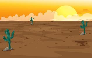Un désert vecteur