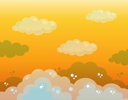 Design de fond avec ciel orange vecteur