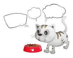 Un chat et les notes de bulles vides
