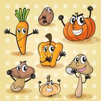 divers légumes vecteur