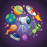 Concept de galaxie et d'univers