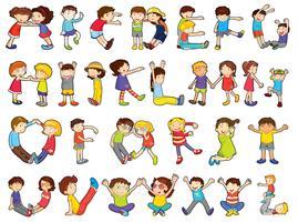 alphabets dans les activités pour enfants vecteur