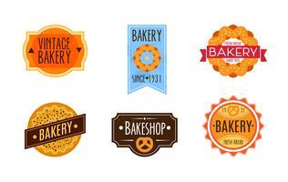 Collection de boulangerie rétro vintage