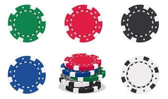 jetons de casino vecteur