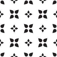 Mosaïque universelle transparente motif noir et blanc.