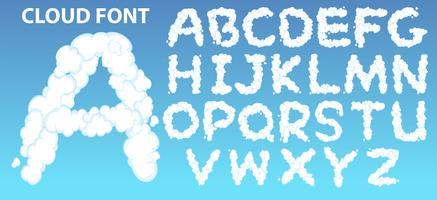 Police de l'alphabet anglais Cloud vecteur