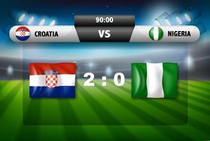 Match de football Croatie vs Nigeria vecteur