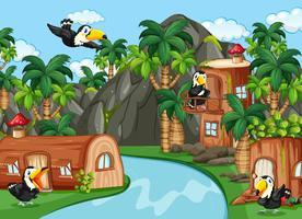 Toucan dans la maison de la nature vecteur