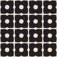 Mosaïque universelle transparente motif noir et blanc. vecteur