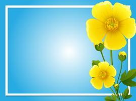 Modèle de bordure avec des fleurs jaunes vecteur