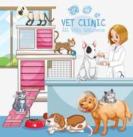 Signe de bienvenue de Cute Pets Clinic vecteur