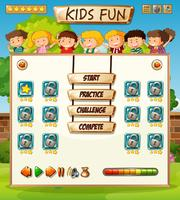 Modèle de jeu international d'enfants