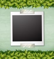 Modèle de note de plante verte de nature vecteur